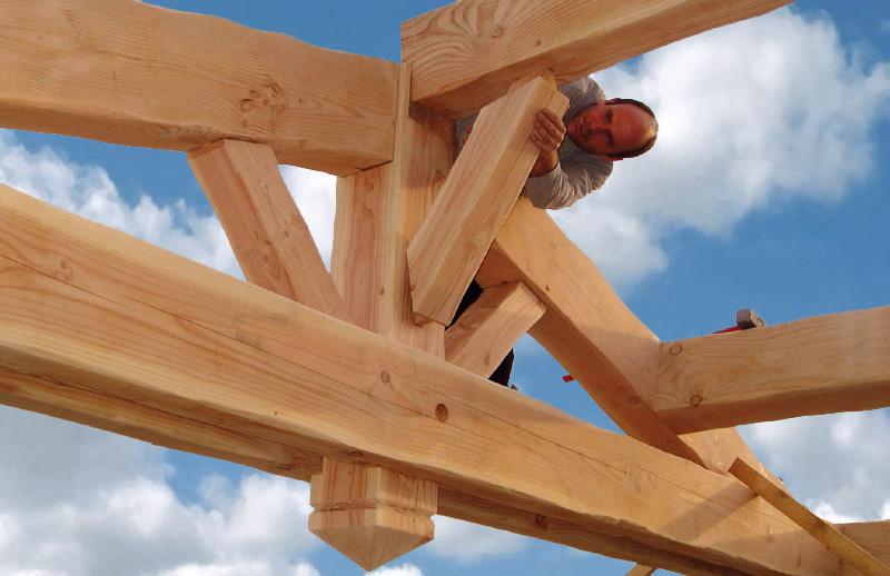 Photographies de chantiers de toitures réalisés en Provence BCME # Technique Assemblage Charpente Bois